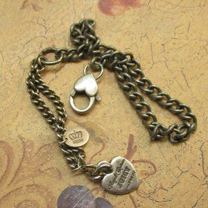 ROYAL COUTURE Juicy P&G III Silver Charm Bracelet